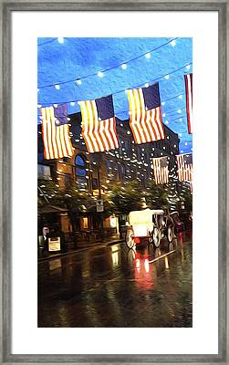 American Flag Framed Print by Little Black Lens    Photography