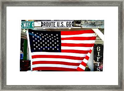 American Flag Route 66 Framed Print