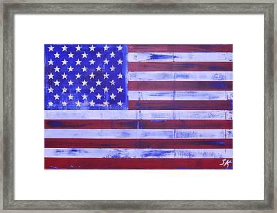 American Flag Framed Print by Sean Keil