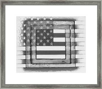 American Flag Framed Print by Steve  Hester