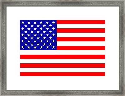 American Flag Framed Print by Tommytechno Sweden