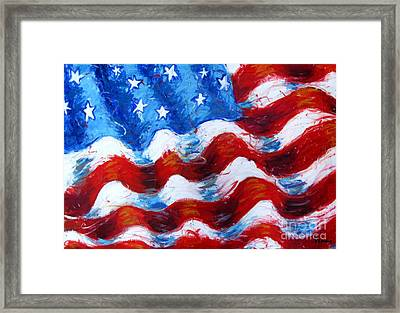 American Flag Framed Print by Venus