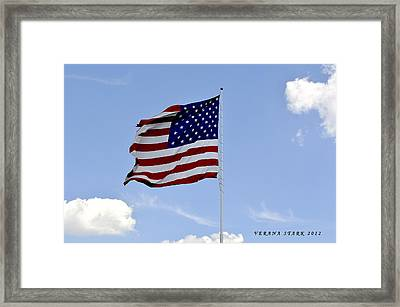 Framed Print featuring the photograph American Flag by Verana Stark