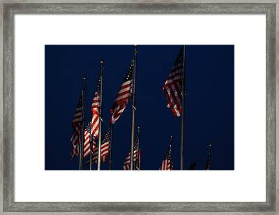 American Flags Framed Print by DustyFootPhotography