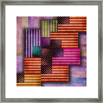 American Flags Framed Print
