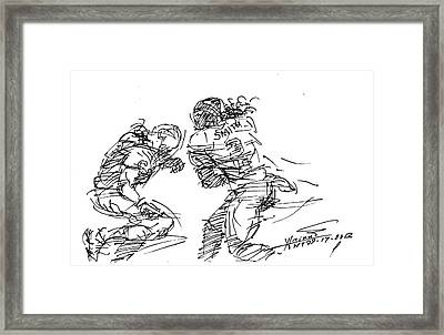 American Football 1 Framed Print by Ylli Haruni