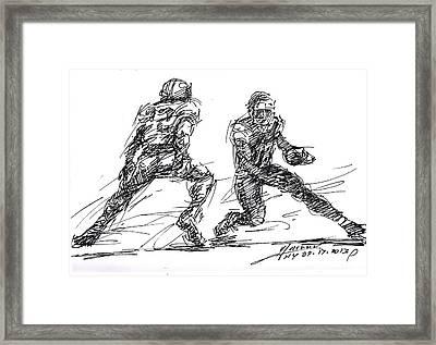 American Football 3 Framed Print by Ylli Haruni