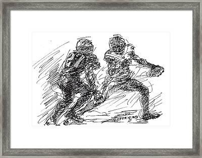 American Football 4 Framed Print by Ylli Haruni