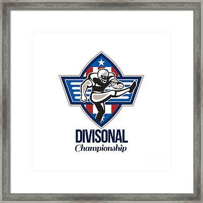 American Football Divisional Championship Framed Print by Aloysius Patrimonio