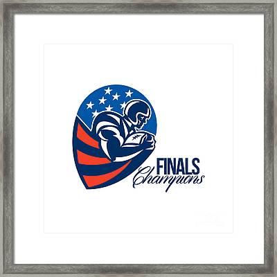American Football Finals Champions Retro Framed Print