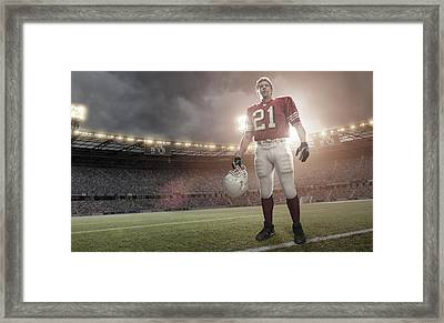 American Football Hero Framed Print by Peepo