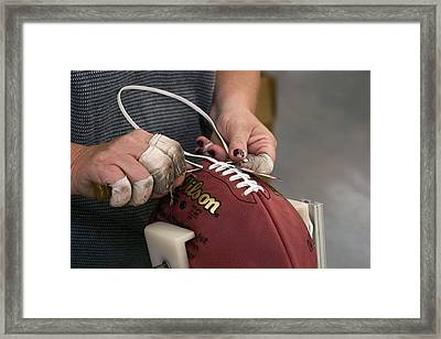 American Football Manufacturing Framed Print