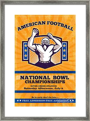 American Football National Bowl Poster Art Framed Print by Aloysius Patrimonio