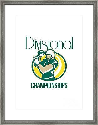 American Football Qb Divisional Championships Retro Framed Print by Aloysius Patrimonio