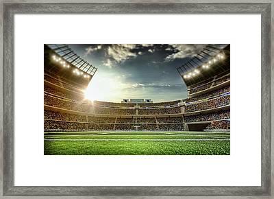 American Football Stadium Framed Print by Dmytro Aksonov