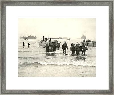American Forces Landing At Arzew Framed Print
