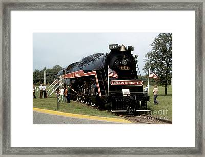 Framed Print featuring the photograph American Freedom Train - 1975 by ELDavis Photography