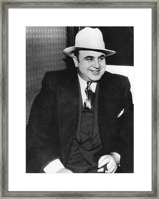 American Gangster Al Capone Framed Print by Underwood Archives