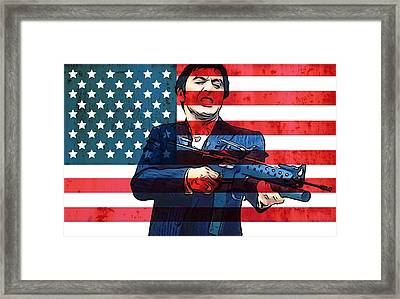 American Gangster Tony Montana Framed Print by Dan Sproul