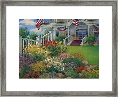 American Garden Framed Print by Sharon Will
