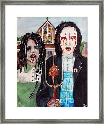 American Goth Framed Print by S G Williams