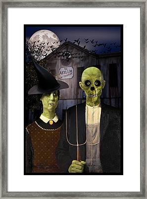 American Gothic Halloween Framed Print by Gravityx9  Designs