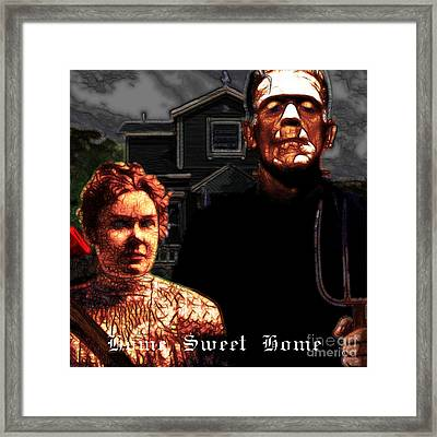 American Gothic Resurrection Home Sweet Home 20130715 Square Framed Print by Wingsdomain Art and Photography