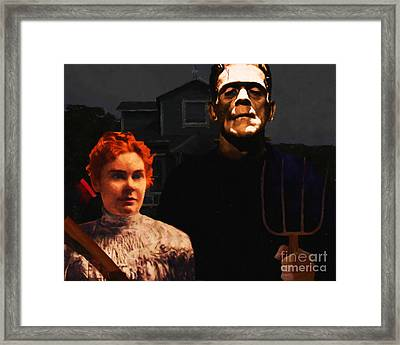 American Gothic Resurrection - Version 1 Framed Print by Wingsdomain Art and Photography