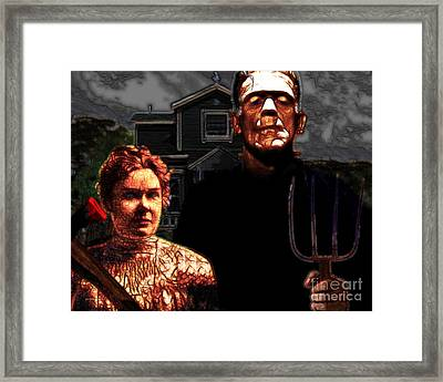 American Gothic Resurrection - Version 2 Framed Print by Wingsdomain Art and Photography