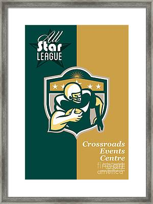 American Gridiron All Star League Poster Framed Print