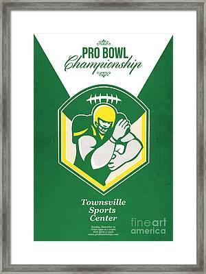 American Gridiron Pro Championship Poster Framed Print