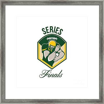 American Gridiron Running Back Series Finals Crest Framed Print