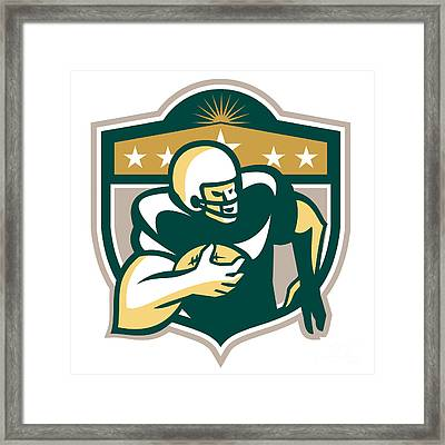 American Gridiron Wide Receiver Running Framed Print