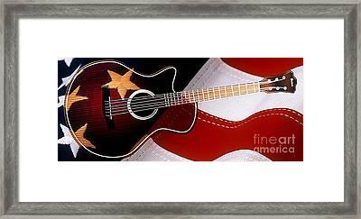 American Guitar Framed Print by Marvin Blaine
