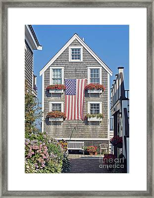 American Harbor House Framed Print