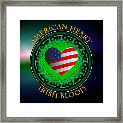 American Heart Irish Blood Framed Print by Ireland Calling