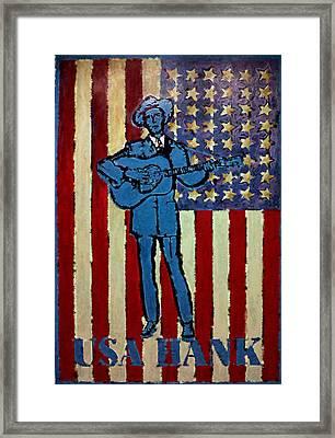 American Hero - Hank Williams Framed Print by Richard Reeve