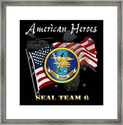 American Heroes - St Vi Framed Print