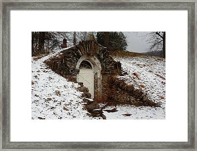 Framed Print featuring the photograph American Hobbit Hole by Michael Porchik