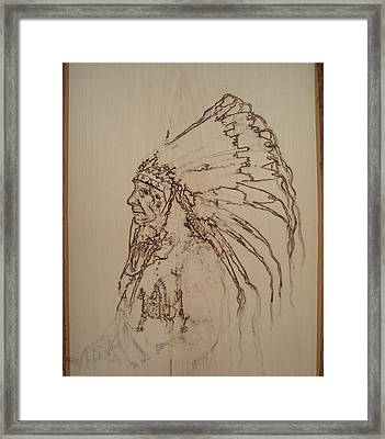 American Horse - Oglala Sioux Chief - 1880 Framed Print by Sean Connolly