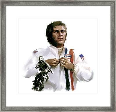American Icon  Steve Mcqueen Framed Print