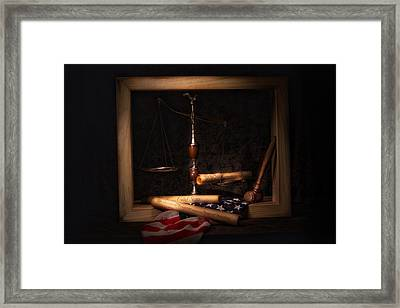 American Ideals Still Life Framed Print by Tom Mc Nemar
