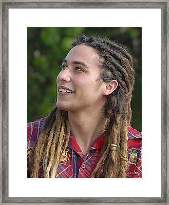 American Idol Finalist Jason Castro Framed Print by Dyle   Warren