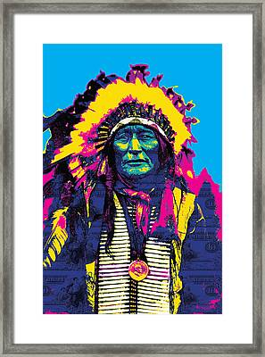 American Indian Chief Framed Print by Gary Grayson