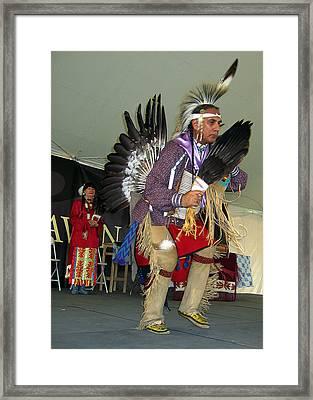 American Indian Dance Framed Print by Bill Marder