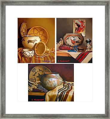 American Indian Pottery By K Henderson Framed Print by K Henderson