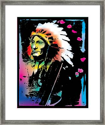 American Indian Silo Framed Print by Gary Grayson
