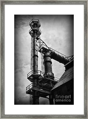 American Industry In Black And White Framed Print by Paul Ward