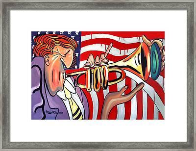American Jazz Man Framed Print by Anthony Falbo