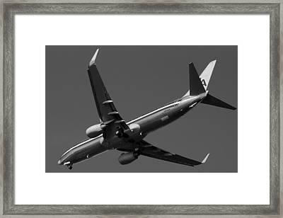 American Jet Landing Framed Print